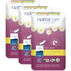 Manufactured Using All-natural Materials - Natracare Organic Cotton Maxi Pads Night Time - PACK of 3