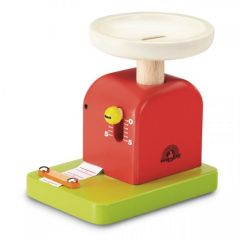 Made using sustainably harvested wood Beaming Baby Wonder Weight Scale Wooden Toddler Toy 36 Months +