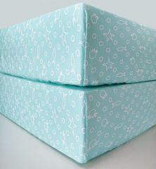 Beaming Baby Organic Cotton Fitted Sheet Chemical-Free! Pack of 2 - Turquoise
