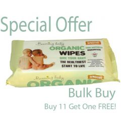 100% Bio-Degradable Wipes beaming Baby Certified Organic Baby Wipes Buy 11 Get One FREE