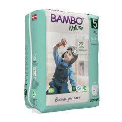 Nordic Swan certified - Bambo Nature Pull Up Trainer Pants XL (Size 5) 19 Pull-up Nappies  - Bulk Buy and SAVE!