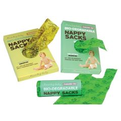 Group Picture - Bio-degradable Nappy Sacks FRAGRANCE FREE, Fragranced and On a roll Buy 9 Get 1 Free!