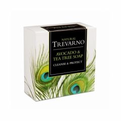Free from Parabens, Synthetic Chemicals & Artficial Colouring Trevarno Avocado & Tea Tree Soap 75g - Bulk buy and save 10%